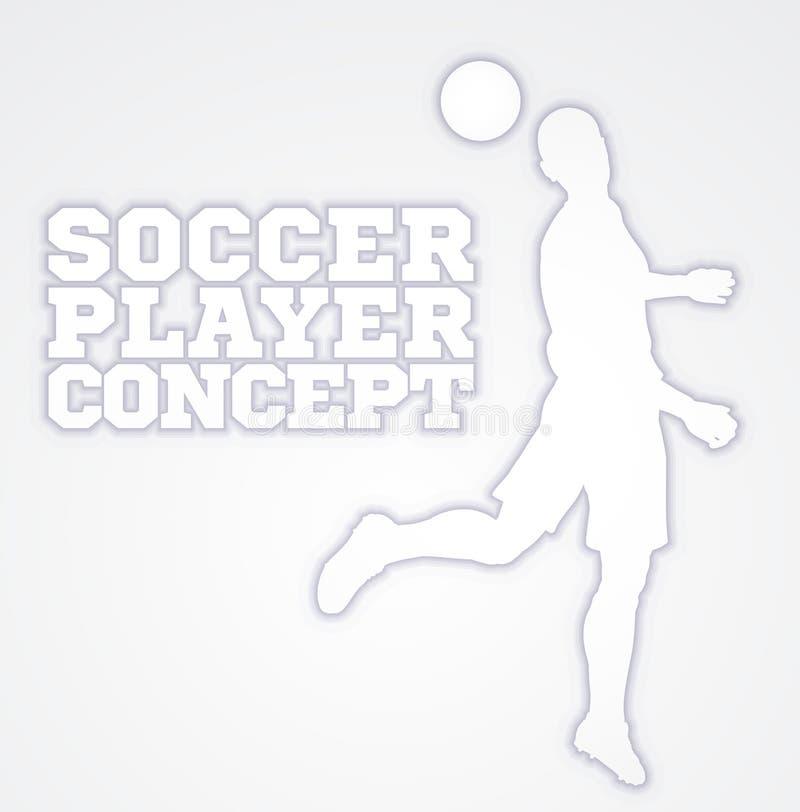 标题足球足球运动员概念剪影 库存例证