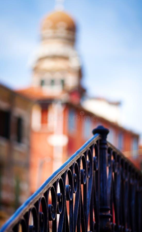 栏杆的支威尼斯 库存照片