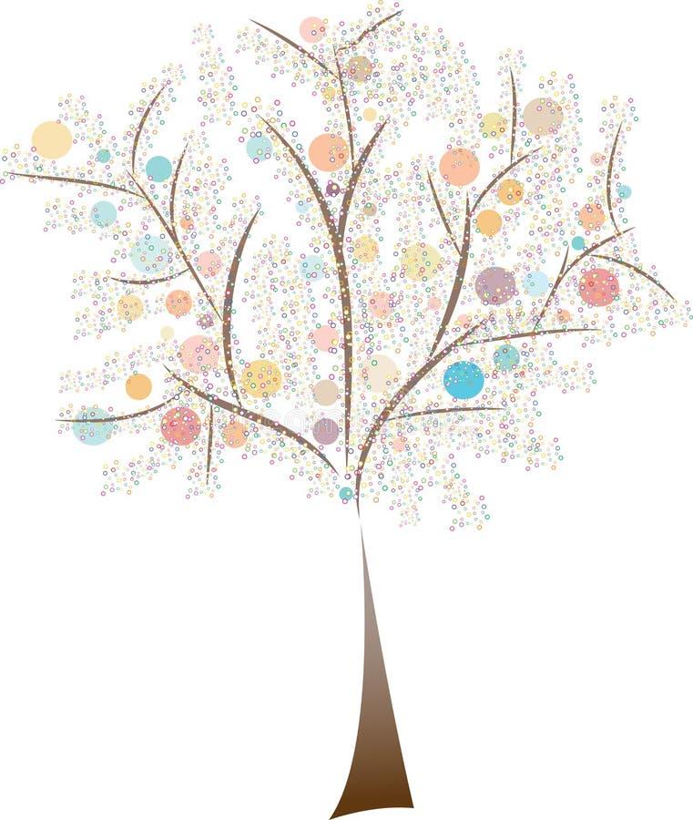 树五颜六色的圈子 向量例证
