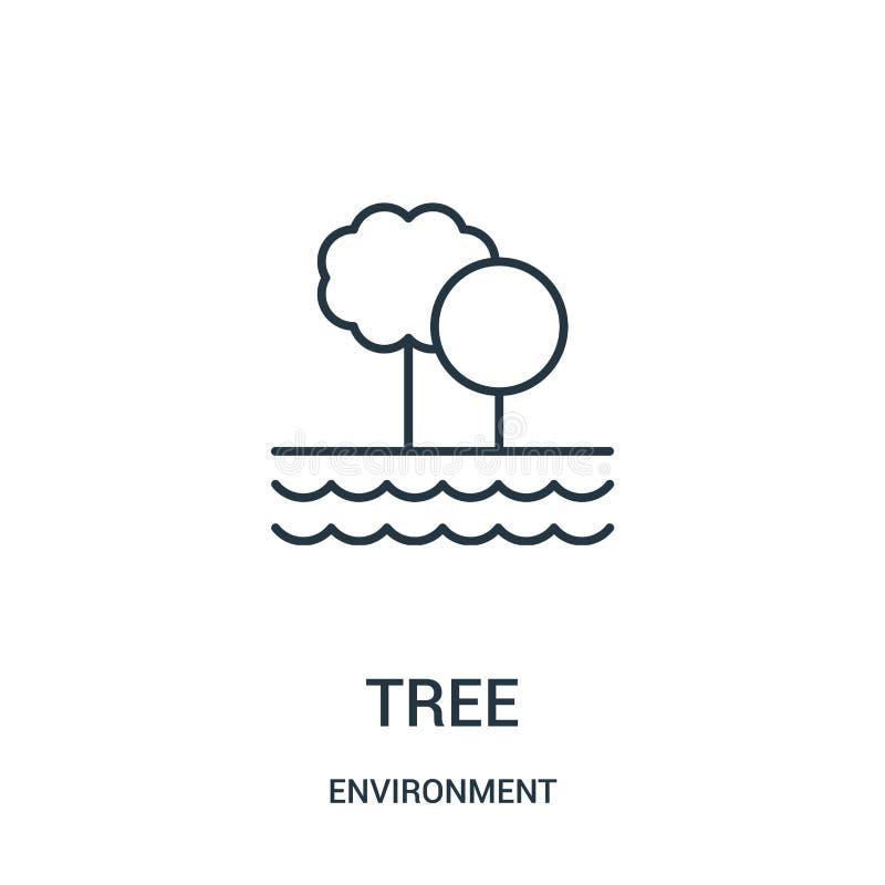 树从环境汇集的象传染媒介 稀薄的线树概述象传染媒介例证 皇族释放例证