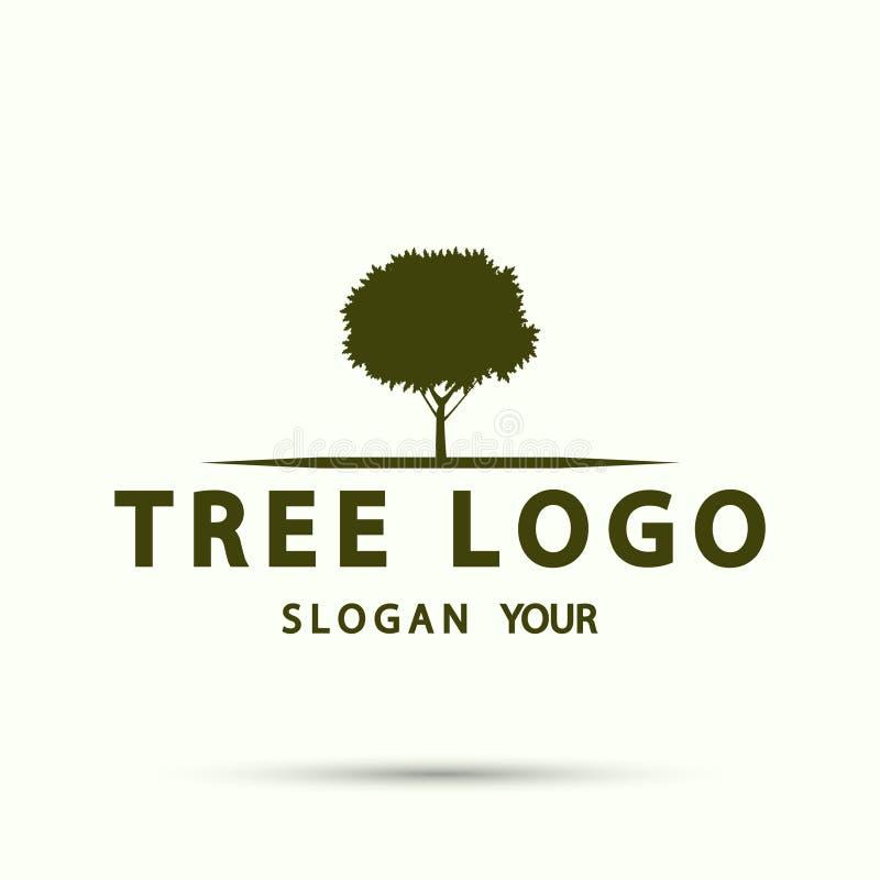 树商标木象现代设计 也corel凹道例证向量 向量例证