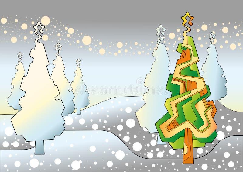 树圣诞节01 皇族释放例证