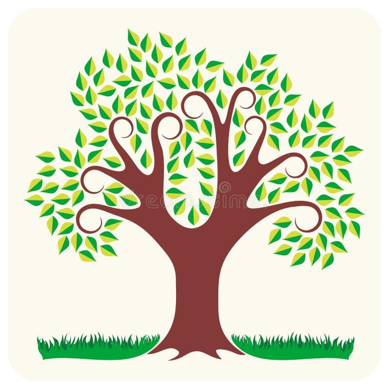 树在夏天 皇族释放例证