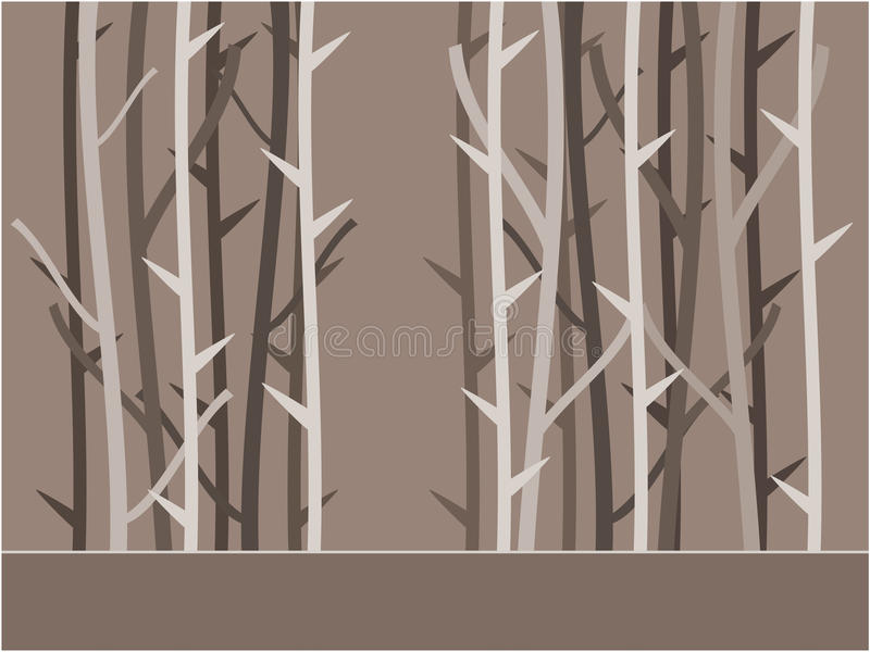 树背景例证 库存例证
