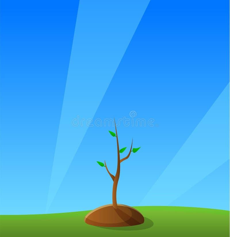 树增长的概念背景,动画片样式 皇族释放例证