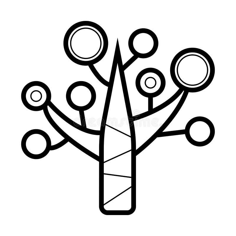 增长的树 树成长阶段 库存例证