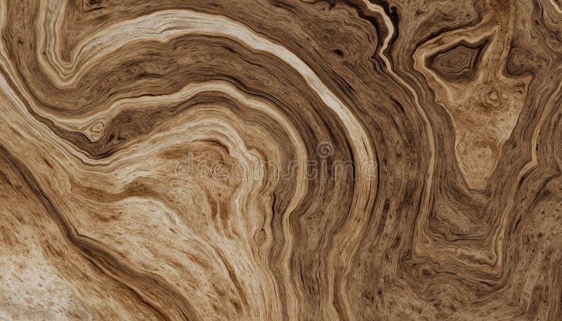 树根源与波浪圆环的背景 皇族释放例证
