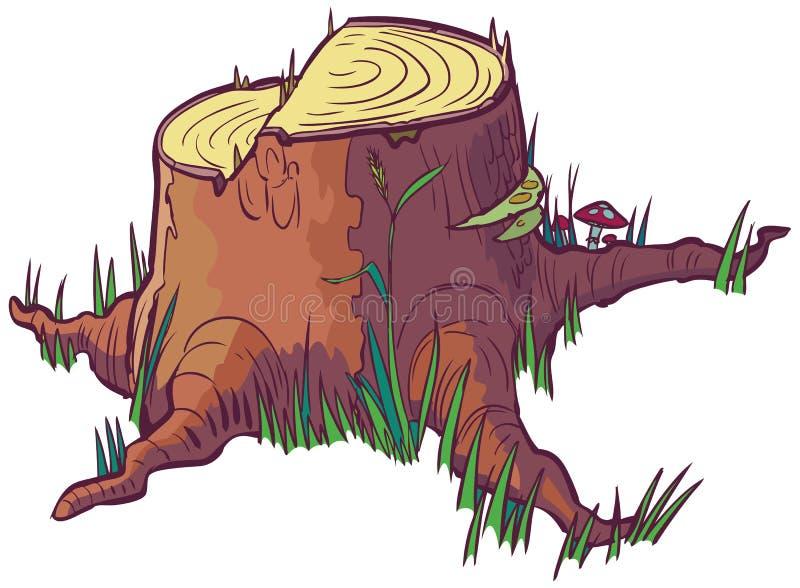 树桩传染媒介动画片剪贴美术 皇族释放例证