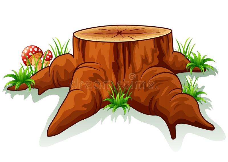 树桩和蘑菇 向量例证