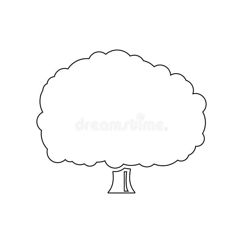 树橡木象 设置树象剪影  网象优质质量图形设计 标志,概述标志汇集, 库存例证