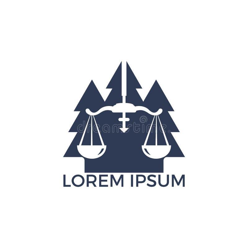 树法律商标设计 库存例证