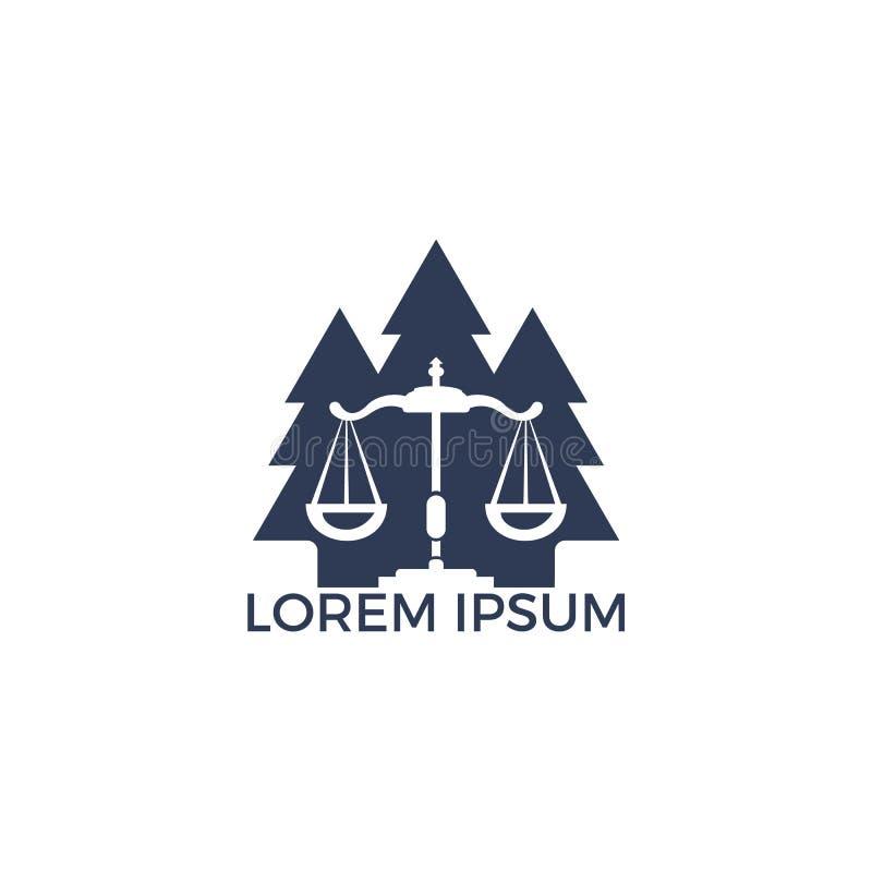 树法律商标设计 向量例证