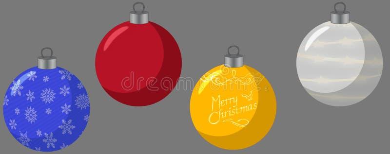 树的圣诞节球 库存照片