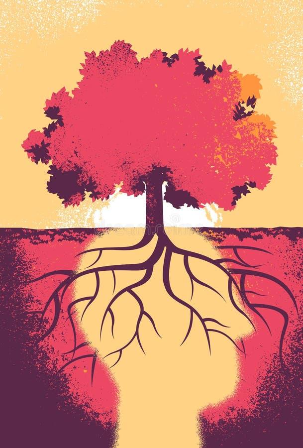 树的灵魂明天认为对更好 库存例证