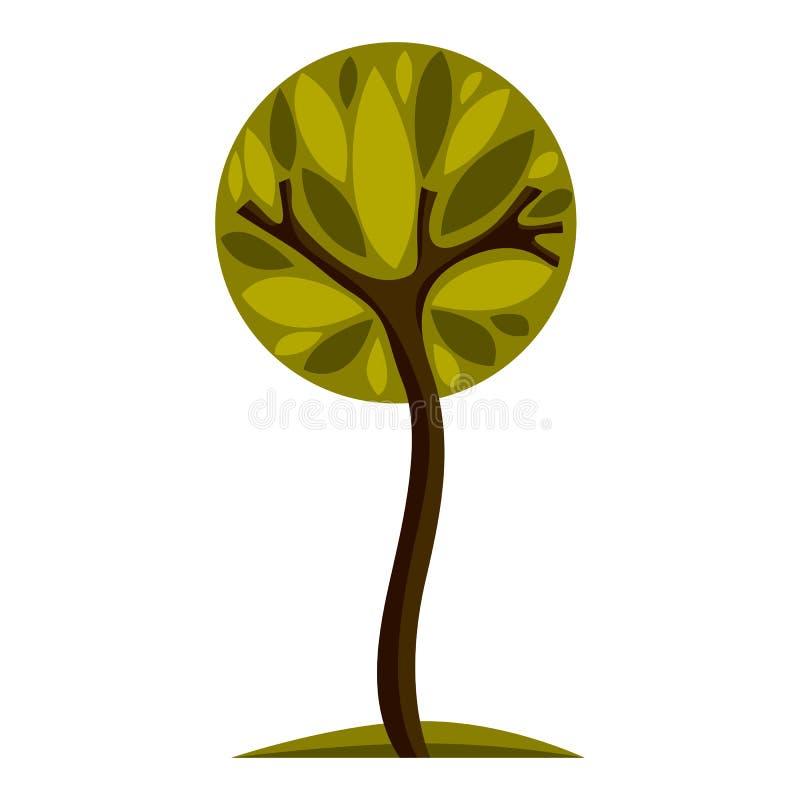 树的艺术神仙的例证,风格化eco标志 洞察vec 库存例证