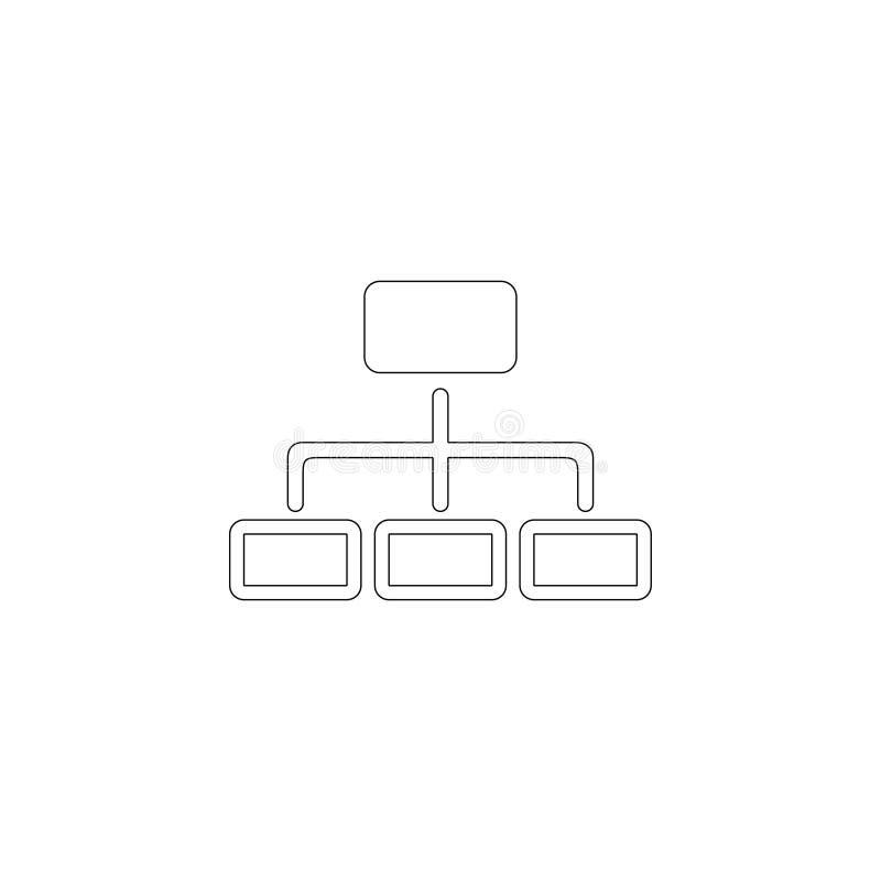 树结构 平的传染媒介象 皇族释放例证