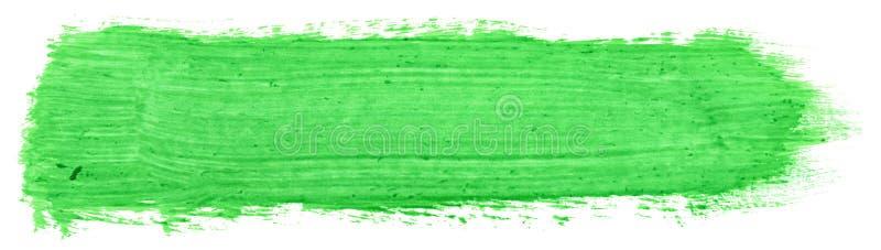 树胶水彩画颜料绿色冲程  免版税库存图片