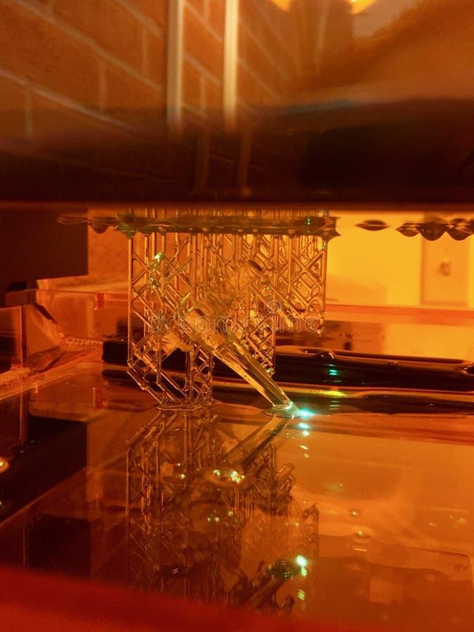 树脂3D打印,与激光激活的SLA修造 库存图片