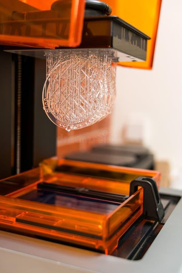 树脂3D打印, SLA修造掀动视图 库存照片