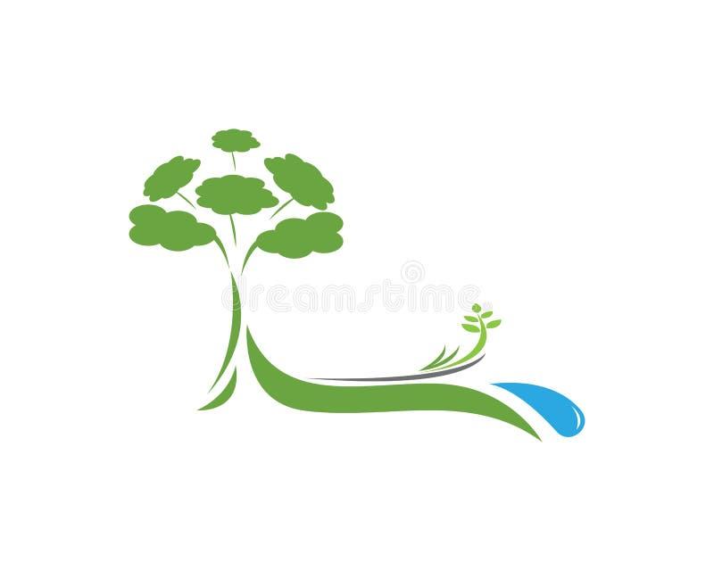树自然商标设计 库存例证