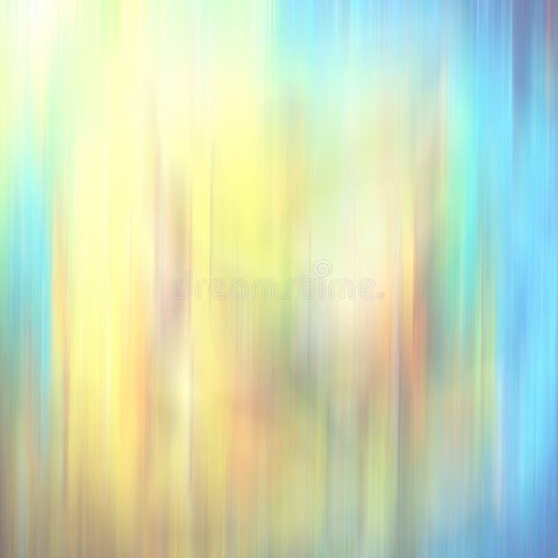 树荫蓝色,深蓝和黄色在抽象行动作用被弄脏的背景中 免版税库存照片
