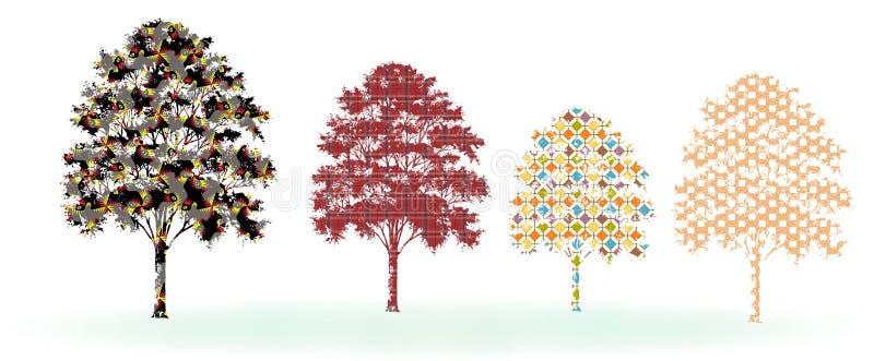 树设计 皇族释放例证