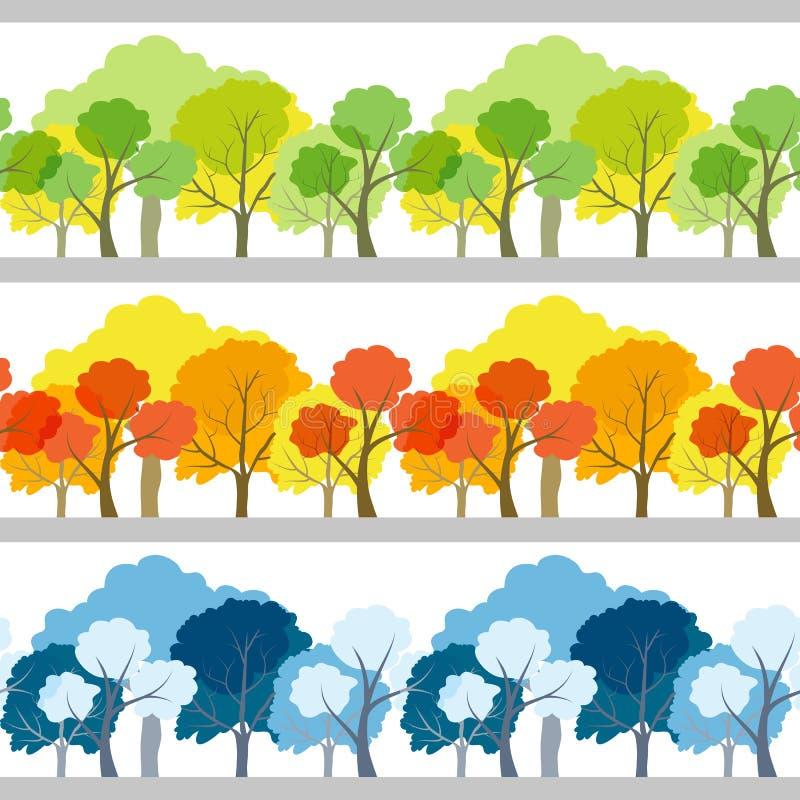 树集合 库存例证