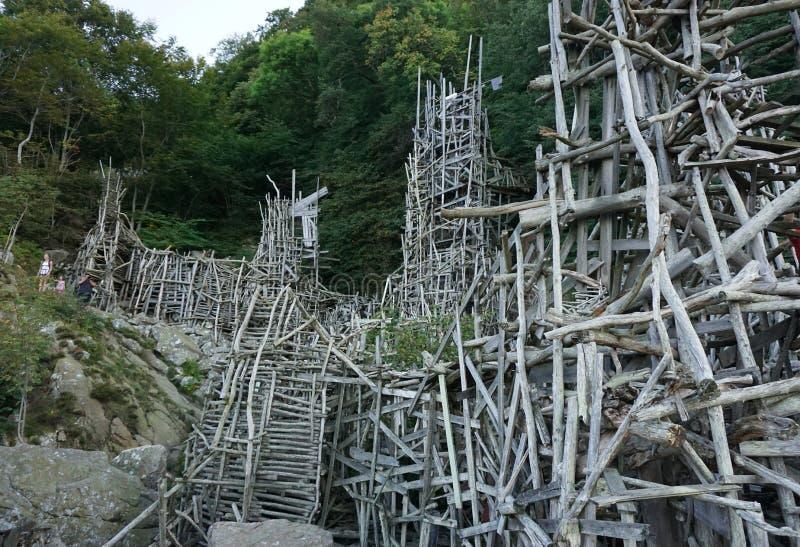 树雕塑 图库摄影