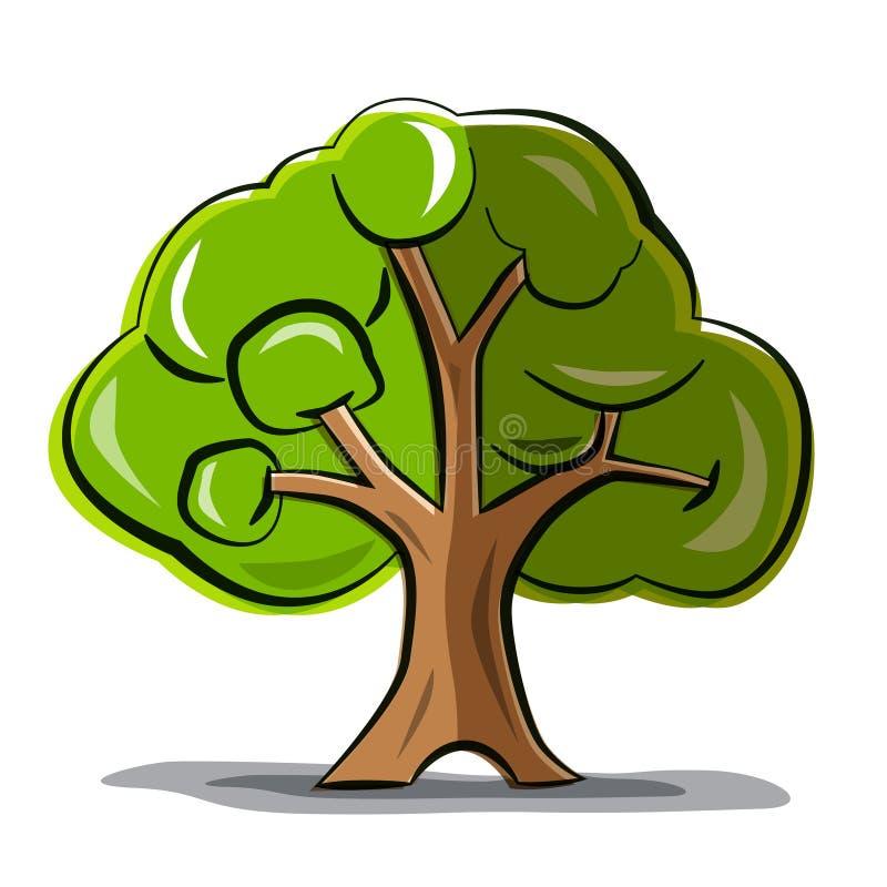树-传染媒介抽象树 库存例证