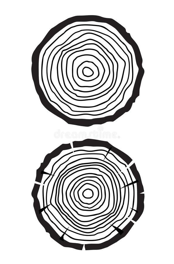 树年轮 皇族释放例证