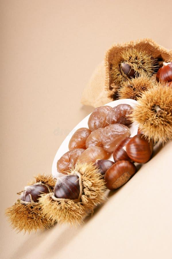 栗子糖渍的marron 库存图片