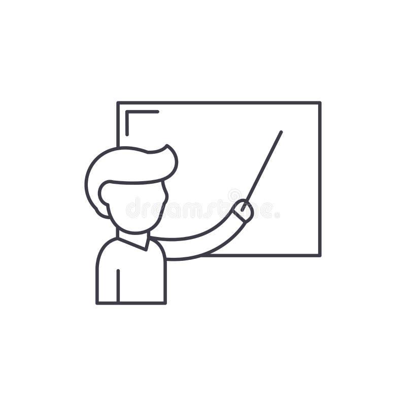 校务委员会线的象概念老师 校务委员会传染媒介线性例证的老师,标志,标志 向量例证