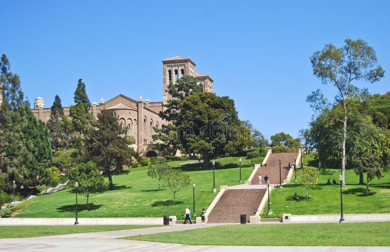 校园走近大学 免版税库存图片