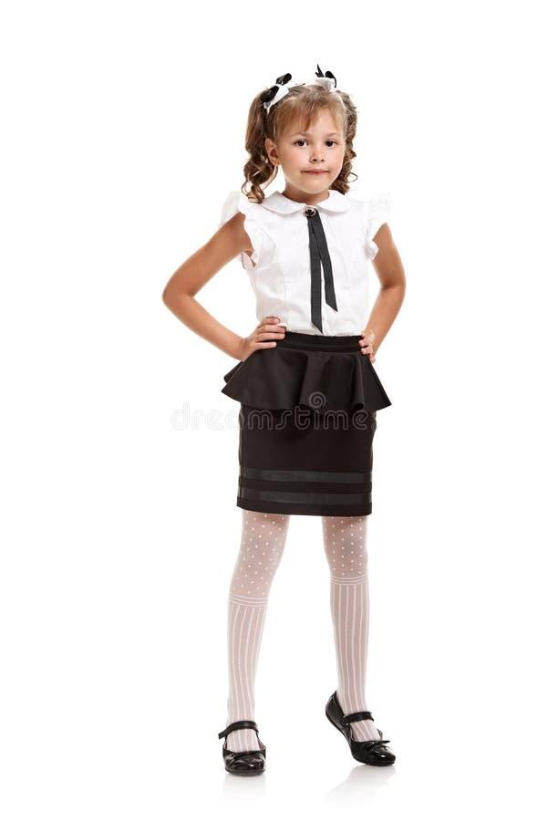 校服的女孩 免版税库存图片