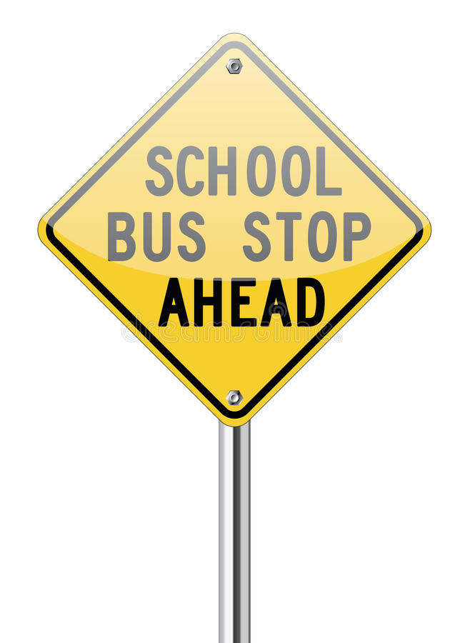 校车前面中止标志 向量例证