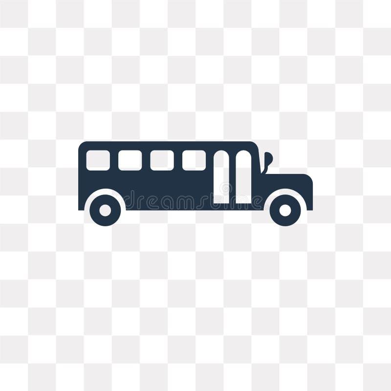 校车在透明背景隔绝的传染媒介象,斯霍 皇族释放例证