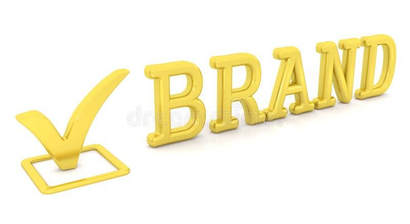 校验标志和品牌 皇族释放例证
