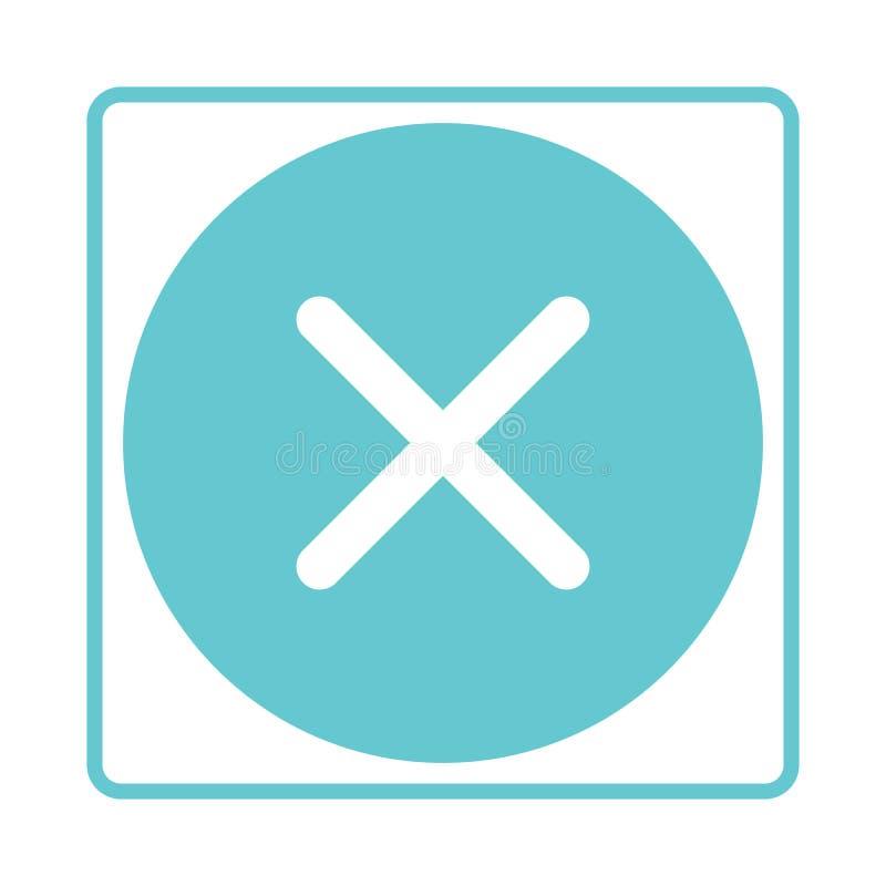 校验标志按钮 不,废弃物,否定性 也corel凹道例证向量 库存例证
