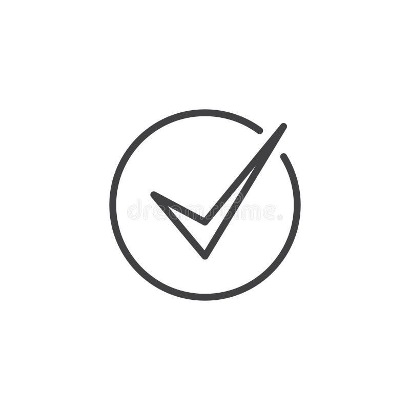 校验标志概述象 库存例证