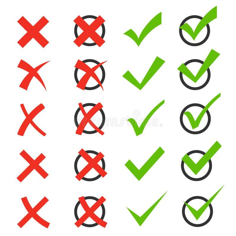 校验标志象集合 向量例证