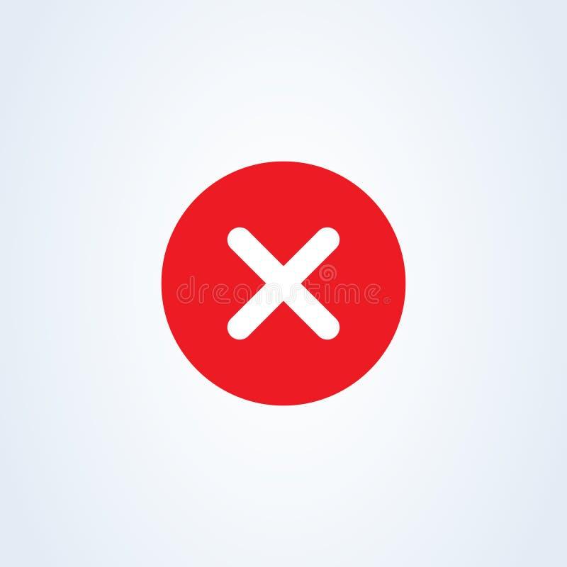 校验标志-简单红十字的象-传染媒介例证 向量例证