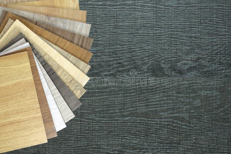 样品层压制品地板木纹理地板演播室照片  S 免版税库存图片