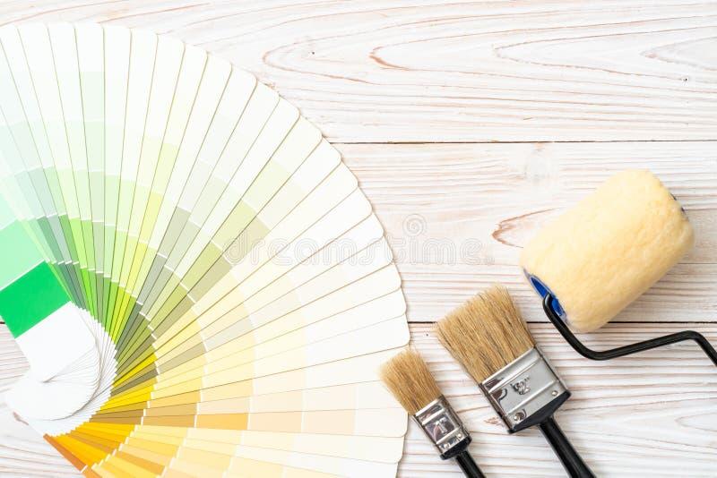 样品颜色编目pantone或颜色样片预定 免版税库存图片
