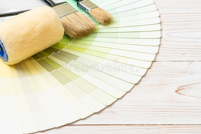 样品颜色编目pantone或颜色样片预定 图库摄影