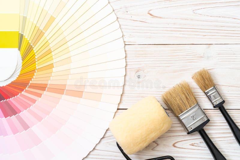 样品颜色编目pantone或颜色样片预定 库存图片