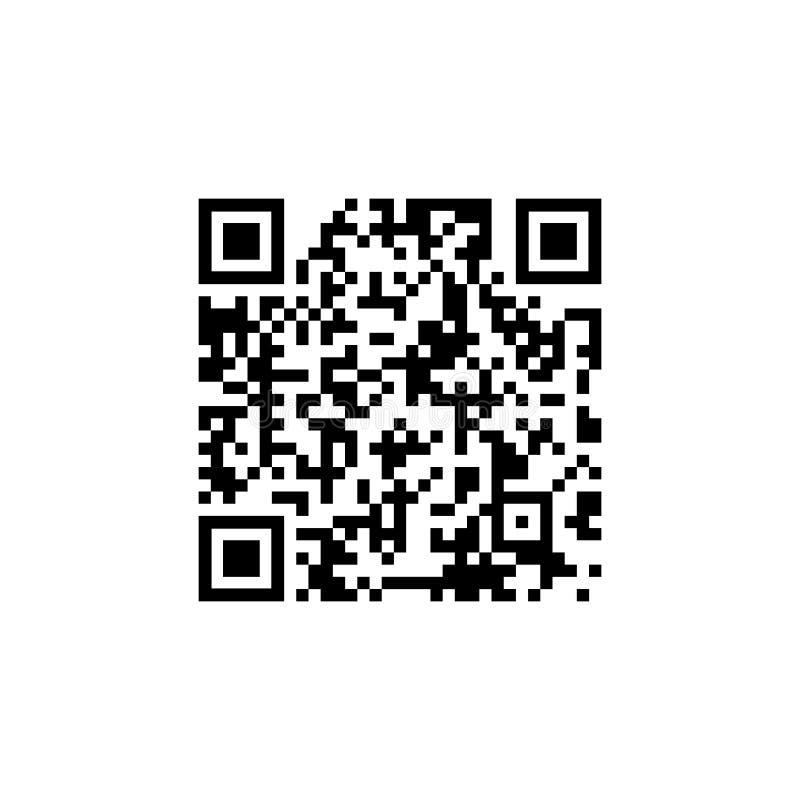 样品qr代码象,在白色背景隔绝的传染媒介例证 向量例证