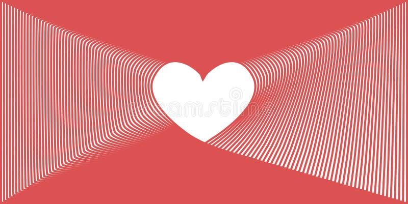 样式与粉色的爱心脏 库存例证