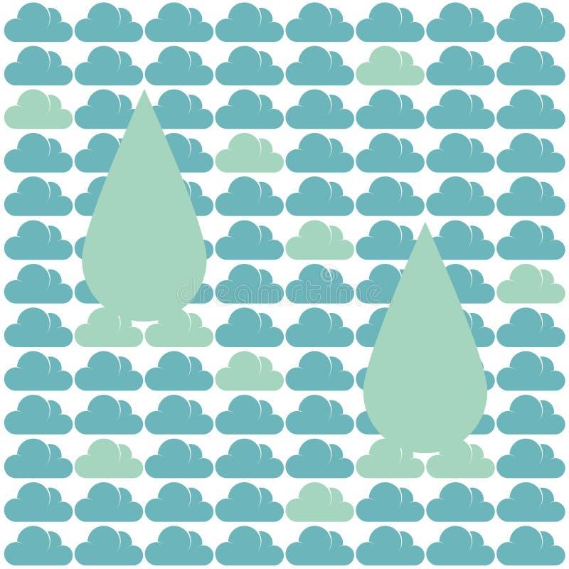 样式云彩雨 向量例证