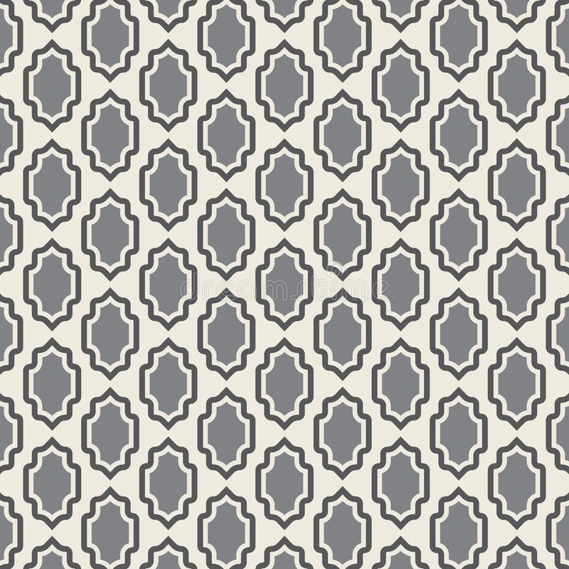 样式几何纹理 与盾元素的无缝的传染媒介背景 皇族释放例证