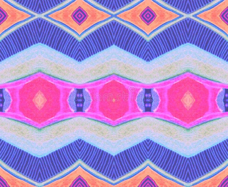 样式印地安蓝色桃红色橙色淡紫色空间 图库摄影